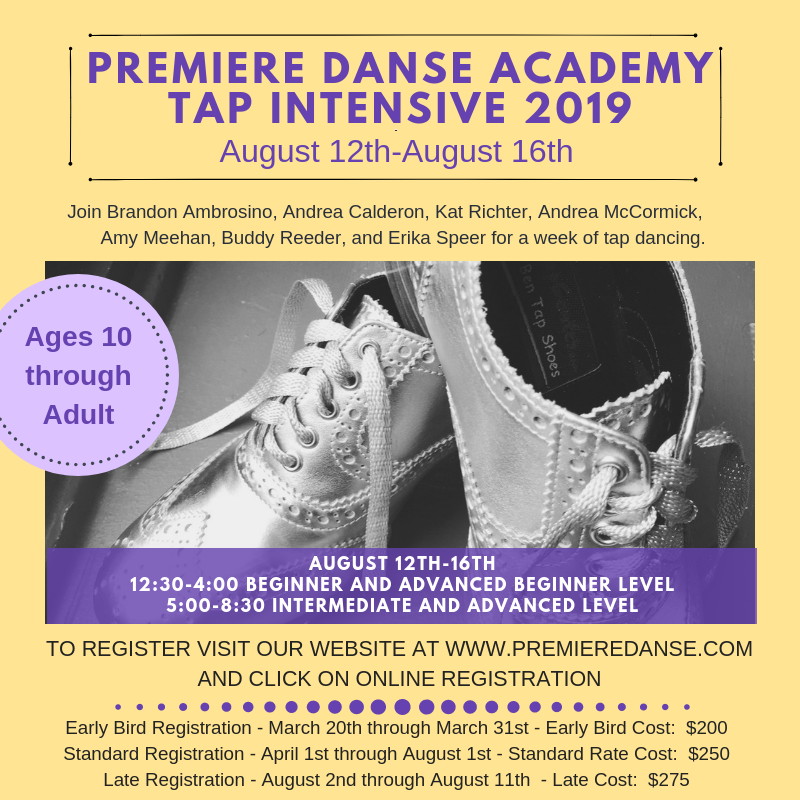 TapIntensivePic Summer 2019 & Tap Intensive 2019 Registration Now Open